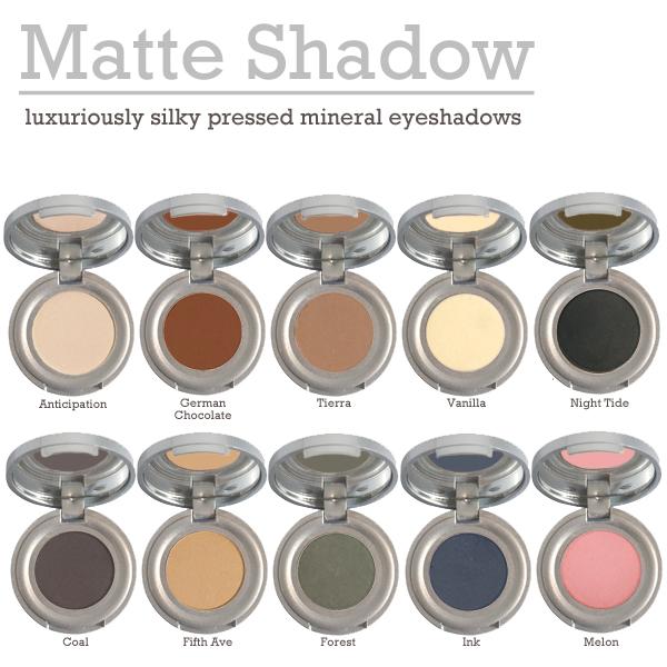Matte Pressed Mineral Shadows