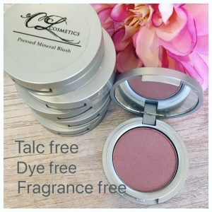 Oil free, Talc free, Fragrance free, Dye free, all natural blush, mineral make up,