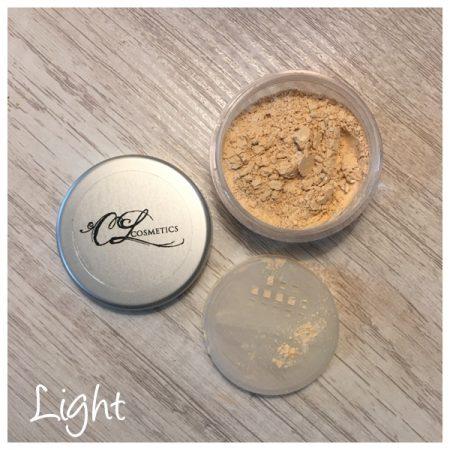 Calla Lily Cosmetics. CL cosmetics, translucent mineral powder