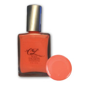cool melon orange natural polish, Anything Goes