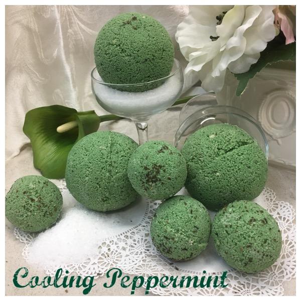 Peppermint Bath Bomb Calla Lily Cosmetics