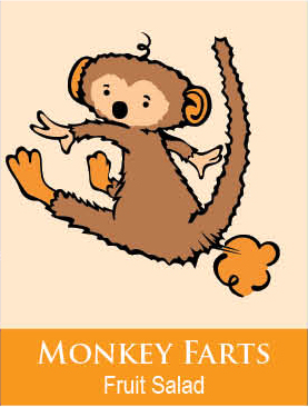 monkey farts bath paints