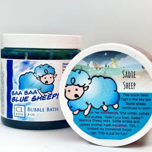 blue sheep bubble bath