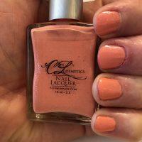 Nail Polish, soft coral pink