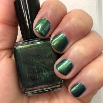 Nail Polish, Blue Green Shimmer