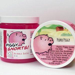 piggy snorts bubble bath