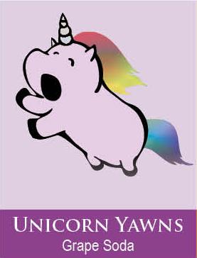 unicorn yawns body icing