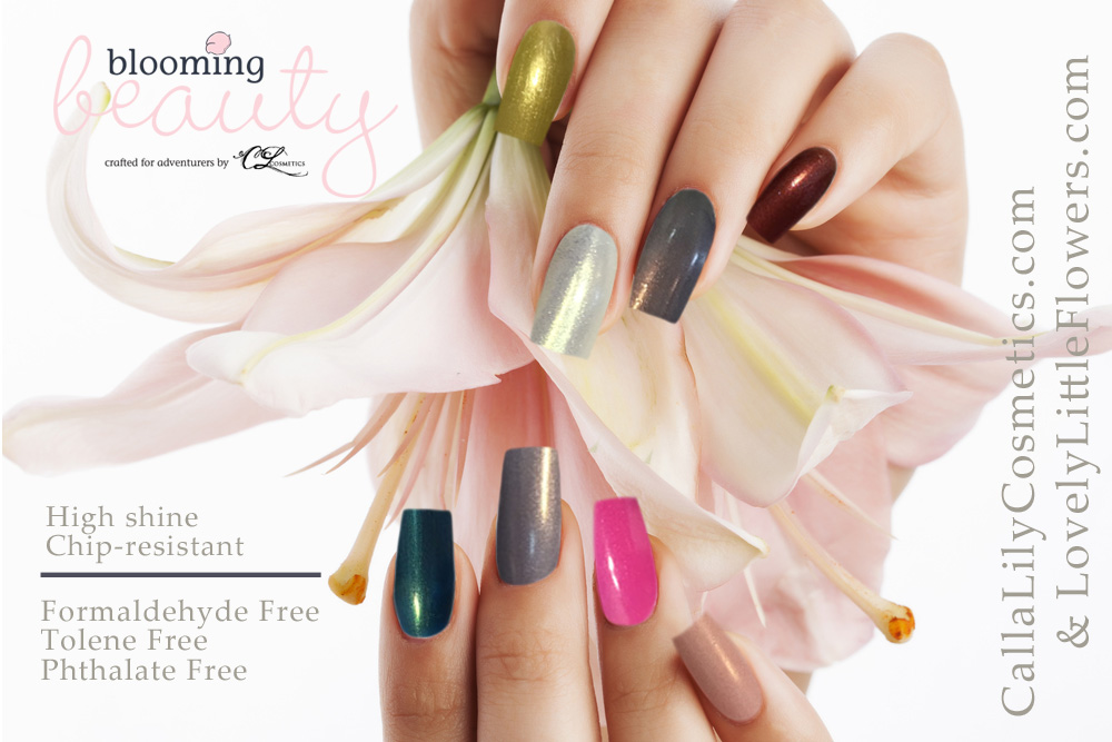 blooming beauty nail polish calla lily cosmetics