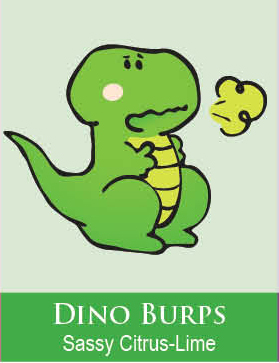 dino burps bubble bath