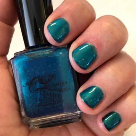 Nail Polish, Iridescent blue