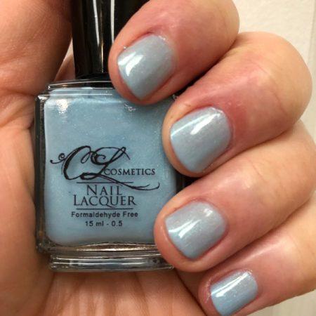 Nail polish, baby blue