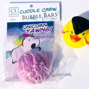 unicorn yawns bubble bar