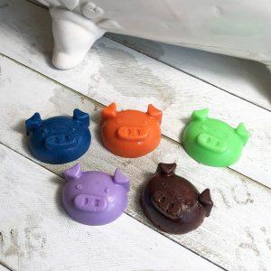 Piggy Bath Crayon Soaps