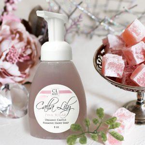 Organic pink sugar foaming hand soap