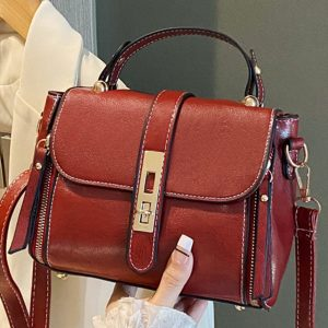 Red Buckle Purse