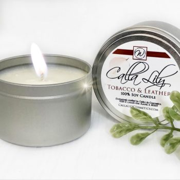 Tobacco Leather Candle
