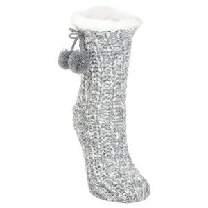 grey slipper socks
